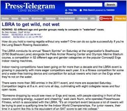 Press Telegram Article Feb 2, 2012