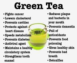 snack green tea