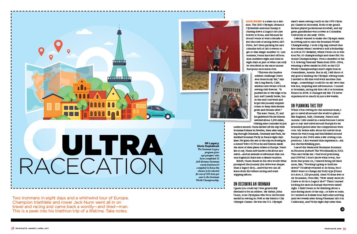 Triathlete Magazine Features Jack Nunn And His European Ironman Racecation